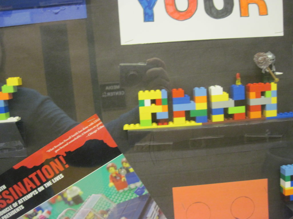 LEGO Your Imagination Display - Detail of LEGO Name