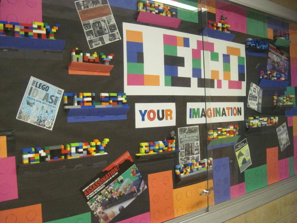 LEGO Your Imagination Bulletin Display - Hunter Jr. High Media Center