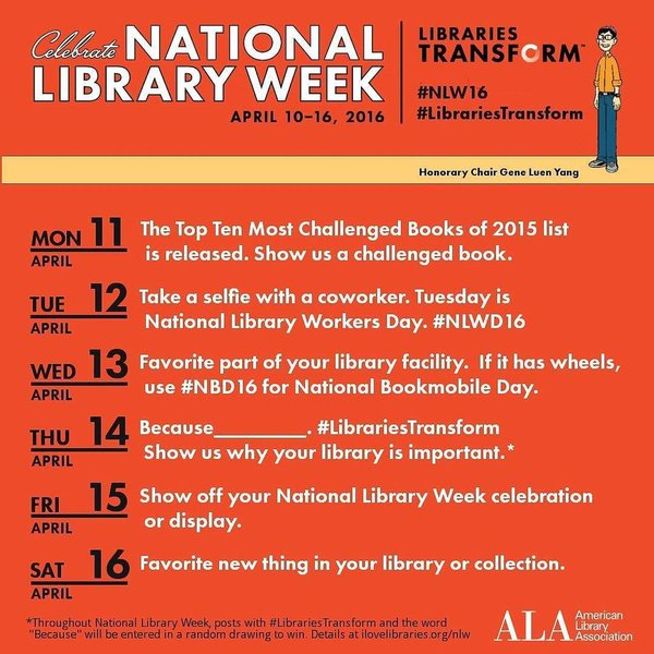 National Library Week Photo Challenge