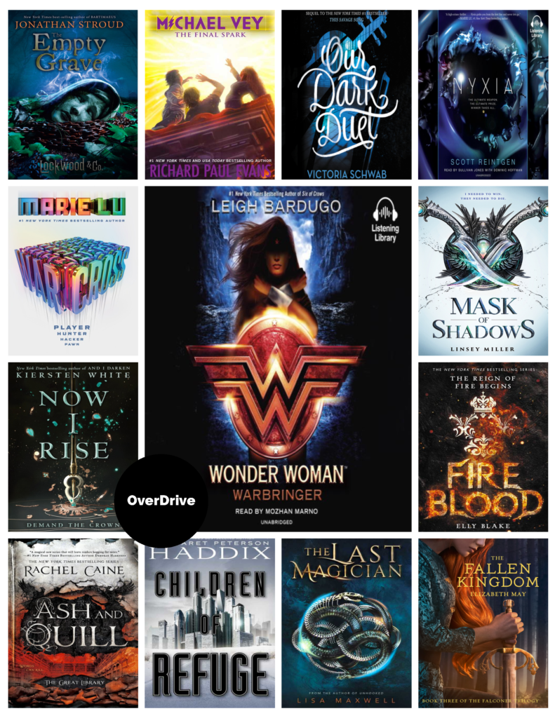 Poster - New YA Books in OverDrive Sept. 2017 - 1