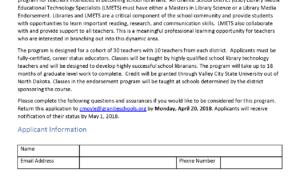 Open for Application: Library Media Endorsement Program