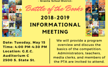 Battle of the Books 2018-2019 Book Lists and Informational Meeting