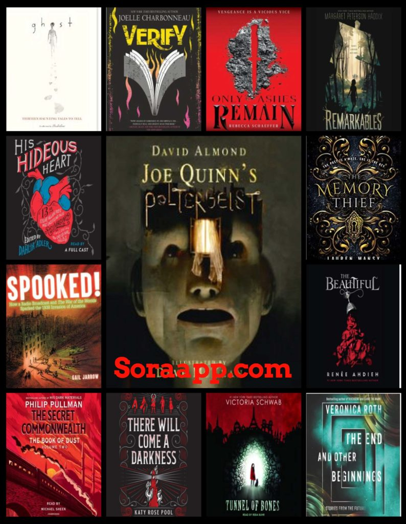 Collage of book covers of new release titles in Sora