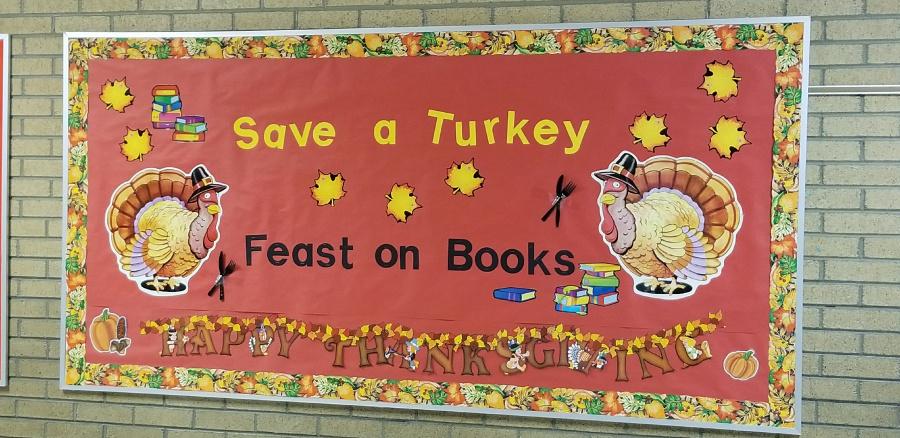 Save a Turkey - Feast on Books Display - Tamara Hatch and Lyndsey Halloran, Bennion Elementary