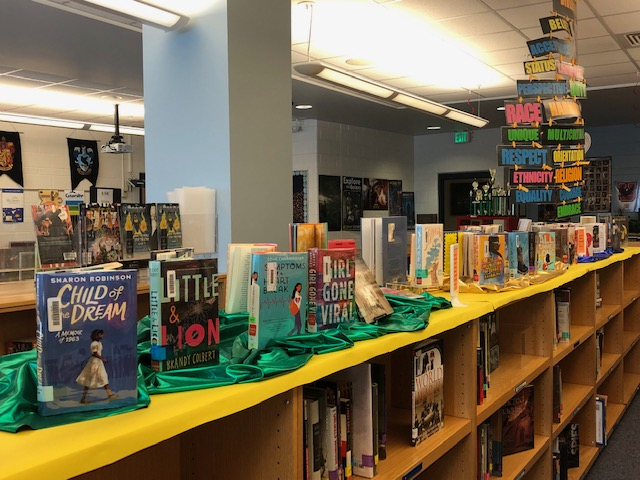 Diversity Library Display at Olympus Jr. High by Jessica Moody