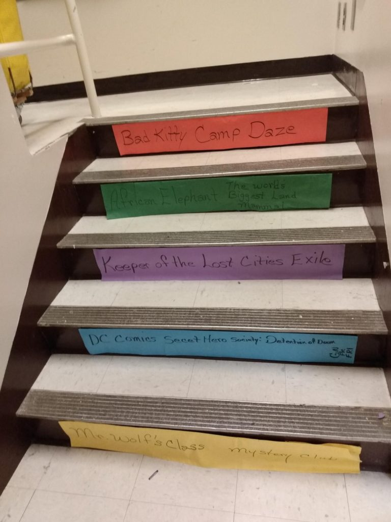 Book Stairway at Western Hills Elementary - Ann Visser