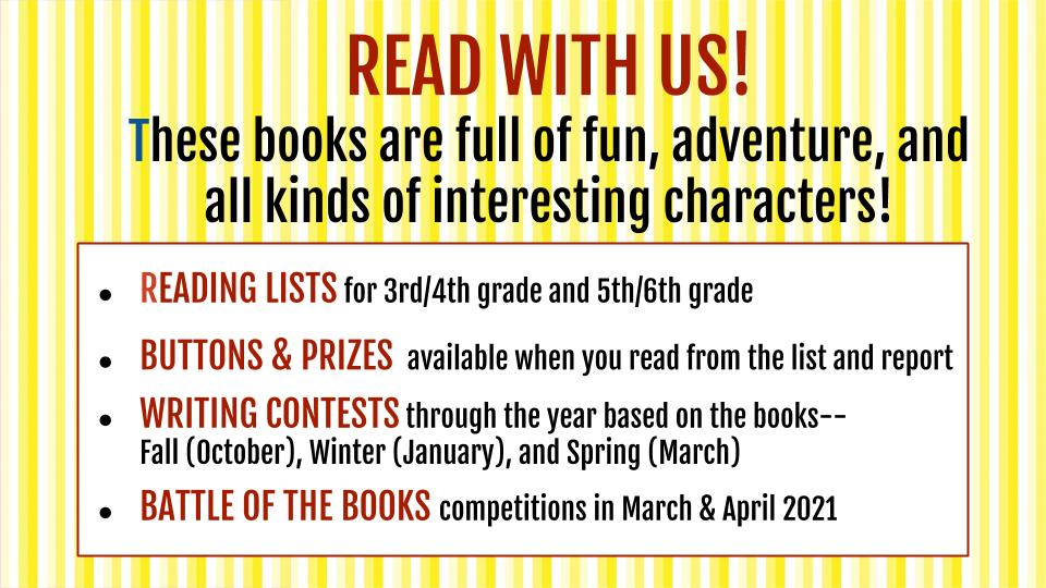 Read With Us - Best Books Challenge Announcement for School Sites - Slide Image