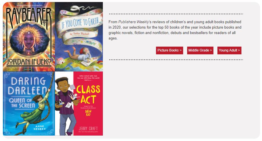 Publishers Weekly Best Books 2020 - Screenshot