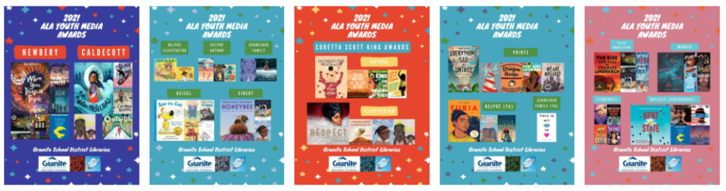 2021 ALA YMA Posters - Granite Libraries - Thumbnails